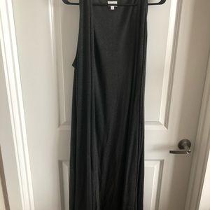 Lularoe Joy duster vest XL charcoal grey